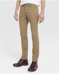 Green Coast - Slim-fit Beige 5-pocket Trousers - Lyst