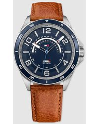 Tommy Hilfiger - 1791391 Brown Leather Watch - Lyst