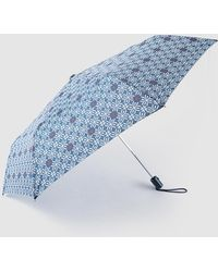 Caminatta - Blue Printed Fold-up Umbrella - Lyst