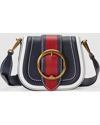 baaa6ca5d4 Polo Ralph Lauren - Small Colour Block Leather Crossbody Bag In Navy Blue