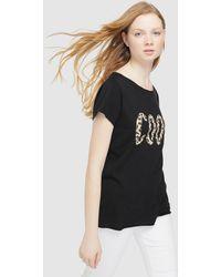 b5af7703e Green Coast Choker Neck Ramones Print T-shirt in Black - Lyst