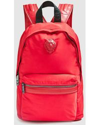 Guess - Red Backpack With Zip And Brand Appliqué - Lyst