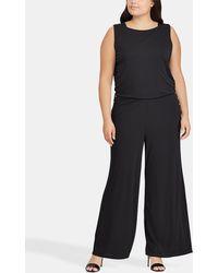 Denim & Supply Ralph Lauren - Plus Size Long Black Jumpsuit - Lyst