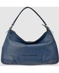 38a3a9a730 Guy Laroche - Navy Blue Leather Hobo Bag With Zip - Lyst