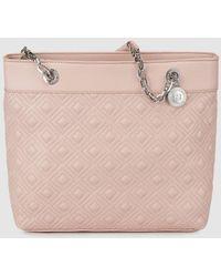 Gloria Ortiz - Silow Pink Mini Shopper Bag With Chain Strap - Lyst