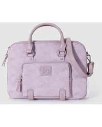 Caminatta - Wo Pink Briefcase With Outer Pockets - Lyst