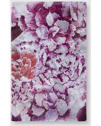 c5ef3d1e56536 El Corte Inglés - Fuchsia Silk Chiffon Foulard With Floral Print - Lyst