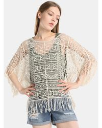 Green Coast - Guipure Fringed Top - Lyst