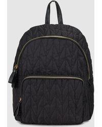 El Corte Inglés - Wo Black Nylon Backpack With Zip - Lyst