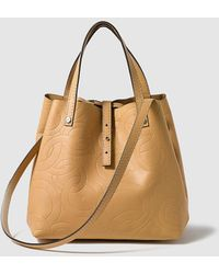 Gloria Ortiz - Sofia Small Brown Leather Shopper Bag With An Inner Pocket - Lyst