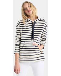 Esprit - Striped Hooded Sweatshirt - Lyst