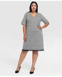 Couchel - Plus Size Short Check Print Dress - Lyst