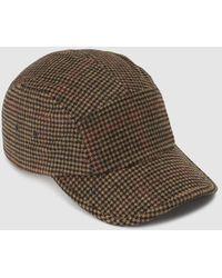 El Corte Inglés - Brown Checked Hat - Lyst