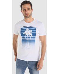 Armani Exchange - White Short Sleeved T-shirt - Lyst