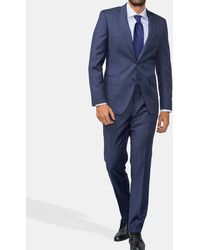 Mirto - Regular-fit Blue Checked Suit - Lyst