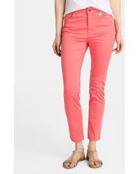 Yera - Pink Skinny Trousers - Lyst