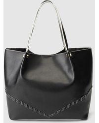 El Corte Inglés - Black Shopper Bag With Contrasting Polished Details - Lyst