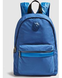 Guess - Blue Backpack With Zip And Brand Appliqué - Lyst