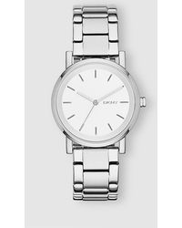 DKNY - Ny2342 Soho Silver-plated Steel Watch - Lyst