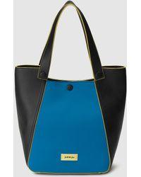 Lyst - Emporio Armani Small Tote, Blue Eco Faux Leather Shopper Bag ... e781e28afb