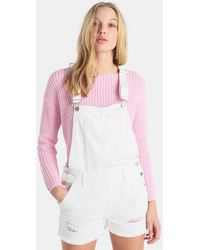 Green Coast - Short Dungarees With Rips - Lyst