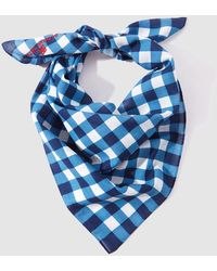 Gloria Ortiz - Blue Checked Cotton Handkerchief - Lyst