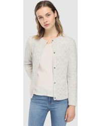 indi & cold - Chunky Knit Cardigan With Openwork Designs - Lyst