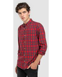 Green Coast - Red Checked Slim-fit Shirt - Lyst
