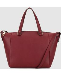 Gloria Ortiz - Helena Burgundy Leather Shopper Bag With Long Strap - Lyst