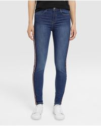 Green Coast - Skinny Jeans With Side Stripes - Lyst