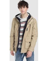Green Coast - Beige Hooded Jacket - Lyst