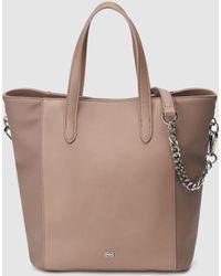 Gloria Ortiz - Violet Ecru Shopper Bag With Metallic Logo - Lyst