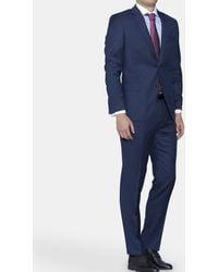 Mirto - Regular-fit Blue Partridge Eye Suit - Lyst