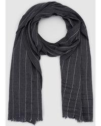 GANT - Striped Grey Wool Scarf - Lyst