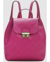 Guess - Wo Pink Backpack With Fastener - Lyst