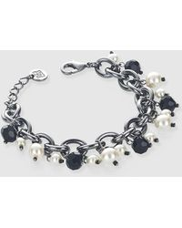 Gloria Ortiz - Black And White Bracelet With Pearls - Lyst