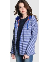 indi & cold - Short Check Print Raincoat - Lyst