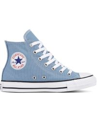 ca0d904315 Lyst - Converse Chuck Taylor All Star Washed Chambray High Top Shoe ...