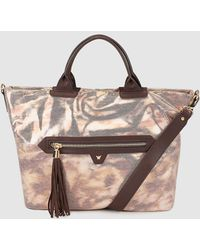 Pepe Moll - Nude Tote Bag With Metallic Effect - Lyst
