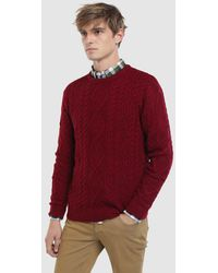 Green Coast - Maroon Crew Neck Sweater - Lyst