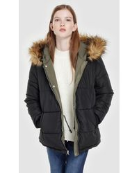 Green Coast - Reversible Quilted Coat With A Fur-trimmed Hood - Lyst