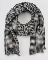 Gloria Ortiz - Black And White Gingham Print Foulard - Lyst