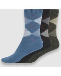 Punto Blanco - Three-pack Of Argyle Socks - Lyst