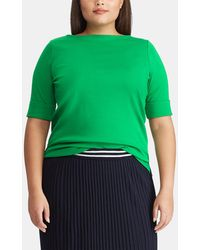 Denim & Supply Ralph Lauren - Plus Size Short Sleeve Boat Neck T-shirt - Lyst