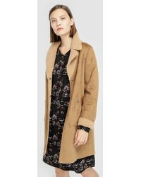 indi & cold - Long Brown Coat With Two Sides - Lyst
