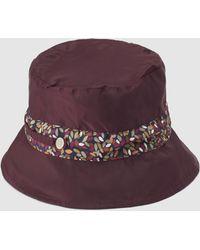 Gloria Ortiz - Burgundy Rain Hat With Contrasting Band - Lyst