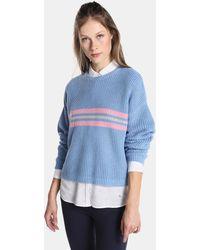 Green Coast - Rib Sweater With Stripes - Lyst