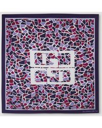 Gloria Ortiz - Phoebe Purple Printed Silk Handkerchief - Lyst