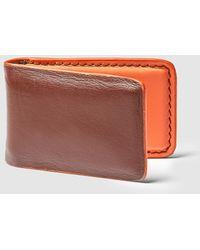 El Corte Inglés - Mens Brown Leather Fold-up Card Holder - Lyst