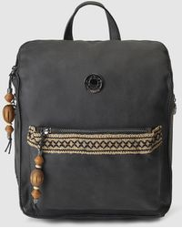 Caminatta - Black Backpack With Jewelled Detail - Lyst